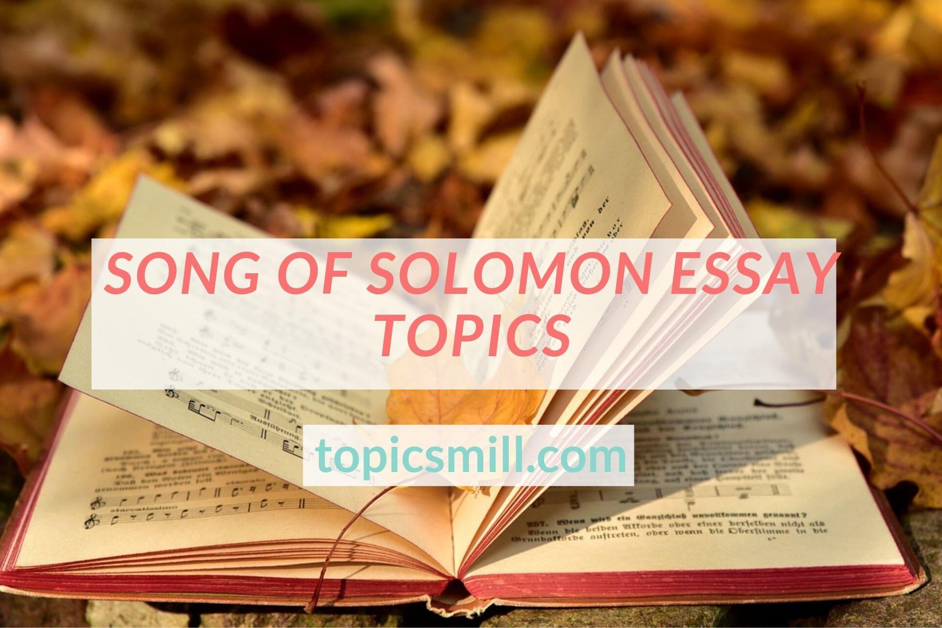 Song of solomon essay