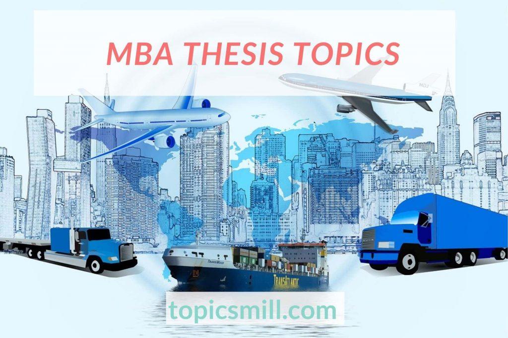 MBA Thesis Topics